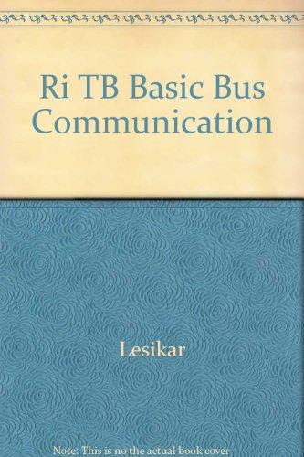 Ri Tb Basic Bus Communication: Lesikar