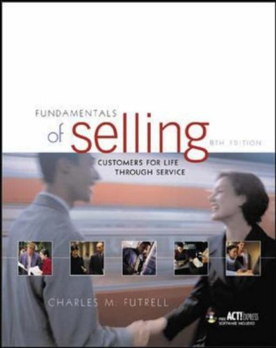 9780072930214: Fundamentals of Selling: Customers For Life Through Service