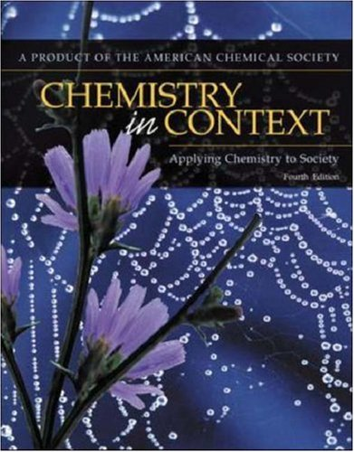 9780072930412: Chemistry In Context: Applying Chemistry To Society
