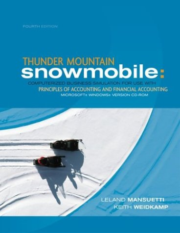 9780072931884: Thunder Mtn Snowmobile with Student CD-ROM Package
