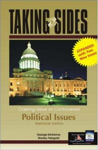 9780072933079: Taking Sides: Clashing Views on Controversial Political Issues, 13th Edition (Rev. Ed.)