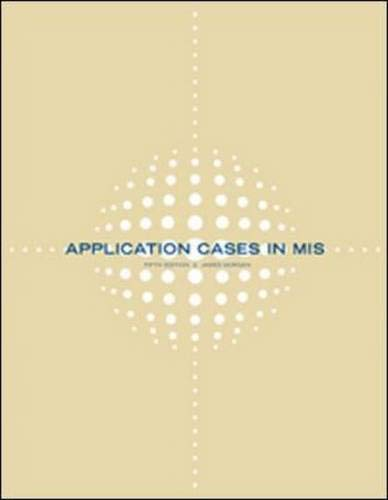 9780072933635: Application Cases in Management Information Systems