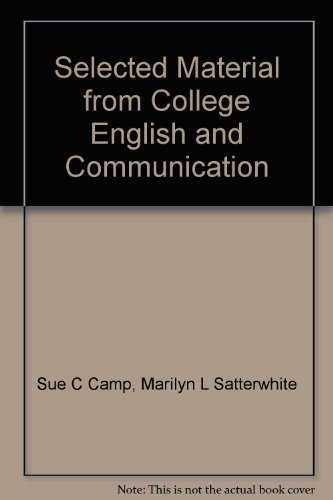 9780072934069: Selected Material from College English and Communication