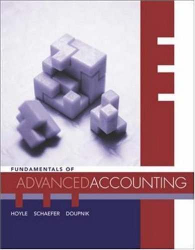 MP Fundamentals of Advanced Accounting with Dynamic: Joe Ben Hoyle,