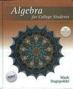 9780072934823: Algebra for College Students
