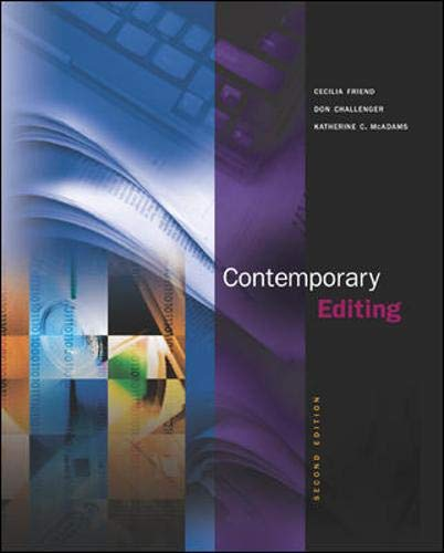 9780072935196: Contemporary Editing with Free Student CD-ROM