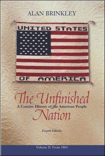 9780072935257: The Unfinished Nation, Volume 2, MP w/PowerWeb : A Concise History of the American People