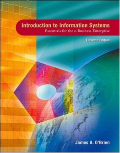 MP: Introduction to Information Sys w/Simnet MIS: James A. O'Brien,