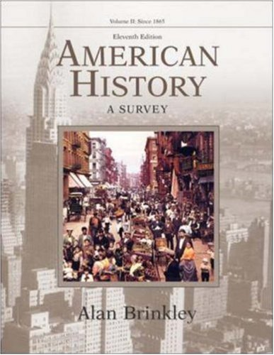 9780072936728: American History: A Survey, Volume 2 MP w/PowerWeb