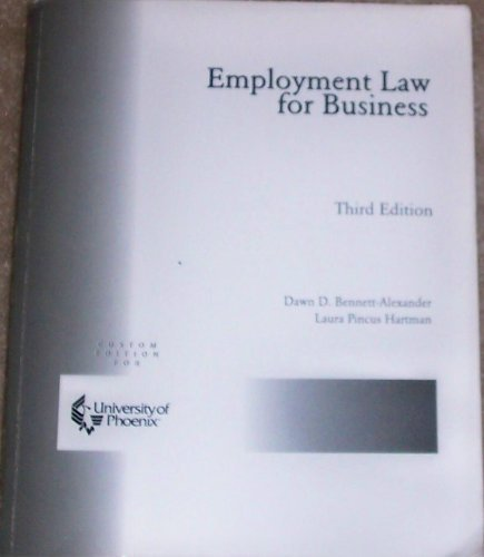 9780072939019: Employment Law for Business (custom edition for university of phoenix)