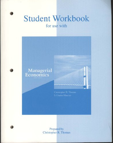 9780072941036: Student Workbook for use with Managerial Economics