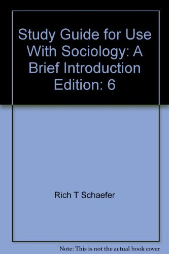 9780072941722: Study Guide for use with Sociology