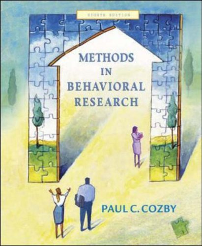 9780072942750: Methods in Behavioral Research