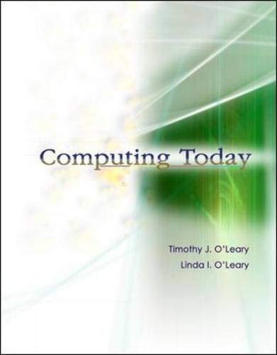 9780072943290: Computing Today w/ Student CD: With Student CD