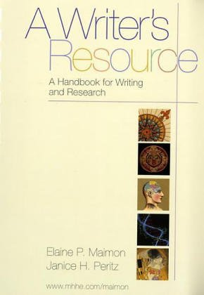 9780072944044: A Writer's Resource a Handbook for Writing and Research