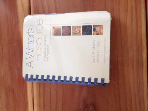 9780072944051: A Writer's Resource - A Handbook for Writing and Research