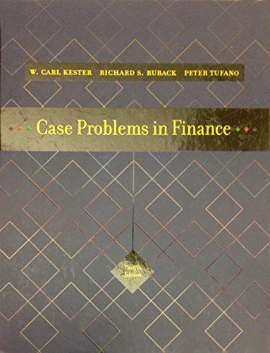 9780072945515: Case Problems in Finance (Irwin Series in Finance, Insurance, and Real Estate,)