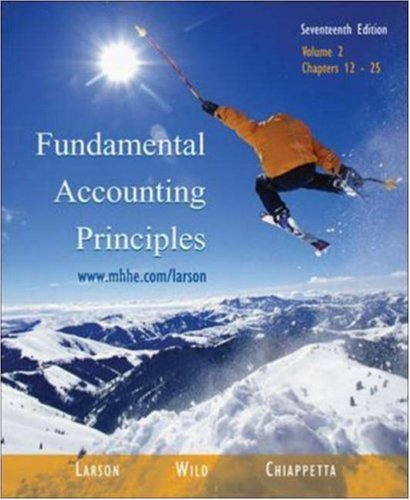 9780072947366: Fundamental Accounting Principles, Chapters 12-25, Vol. 2