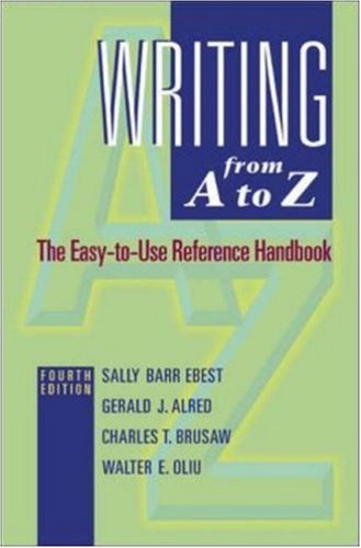 9780072947748: Writing from A to Z: MLA Update Version