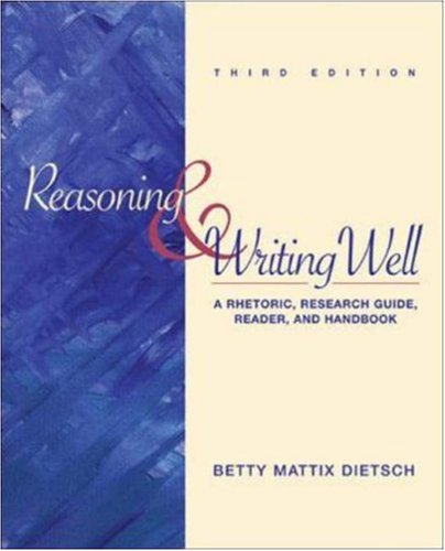 9780072947786: Reasoning and Writing Well: MLA Update Version