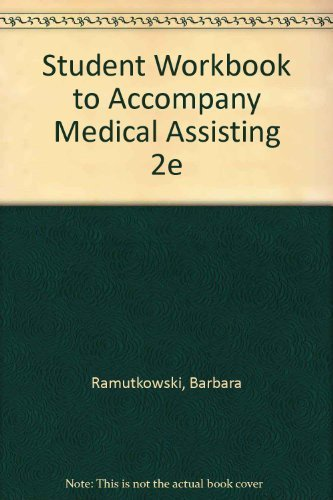 9780072947816: Workbook to accompany Medical Assisting 2e