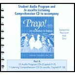 9780072950762: Prego: An Invitation to Italian, Student Audio Cd Program, Part a (Italian Edition)