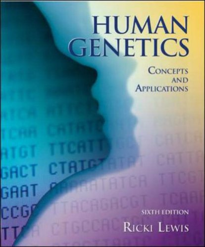 9780072951745: Human Genetics: Concepts and Applications w/ bound in OLC card