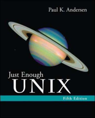9780072952971: Just Enough UNIX
