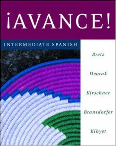 9780072953008: ¡Avance! Intermediate Spanish Student Edition Prepack