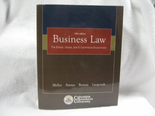 9780072954555: Business Law: The Ethical, Global, and E-Commerce Environment (Student Study Guide)