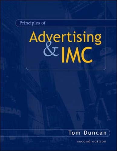 9780072956153: The Principles of Advertising and Imc (The McGraw-Hill/Irwin series in marketing)