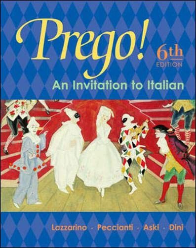 9780072956429: Prego! An Invitation to Italian Student Edition with Bind-In Card