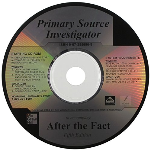 9780072956962: Primary Source Investigator CD to Accompany After the Fact
