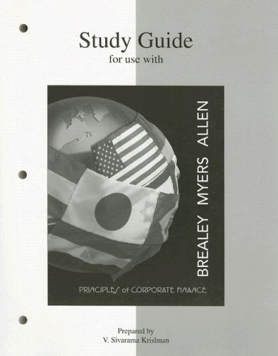 9780072957266: Study Guide to accompany Principles of Corp. Finance