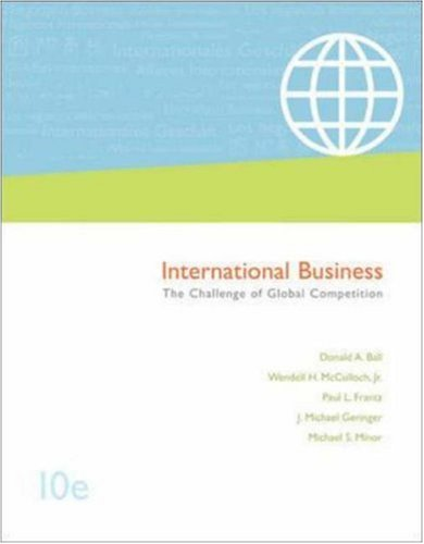 9780072958027: International Business: The Challenge of Global Competition