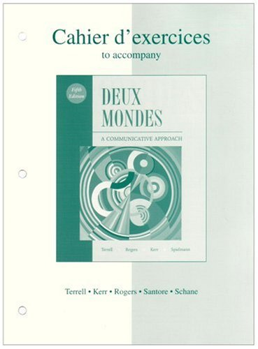 9780072959338: Workbook/Lab Manual to accompany Deux mondes: A Communicative Approach