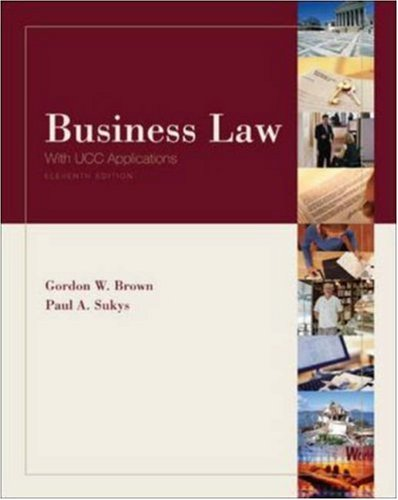 9780072960570: Business Law with UCC Applications (Eleventh Edition)