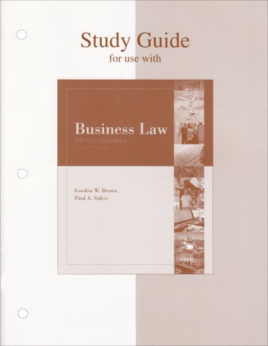 9780072960587: Business Law with UCC Applications, Study Guide