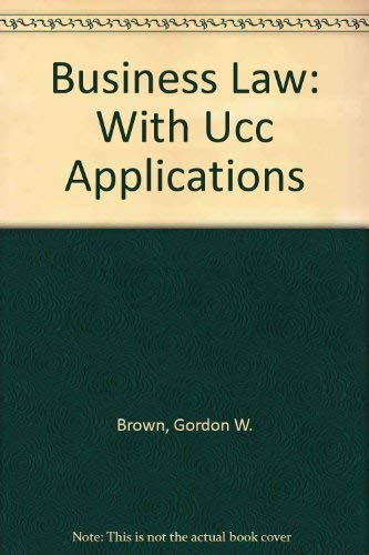 9780072960594: Business Law: With Ucc Applications