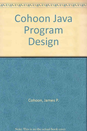 9780072961133: Java 5.0 Program Design : An Introduction to Programming and Object-Oriented Design