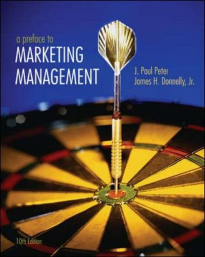 9780072962161: A Preface to Marketing Management