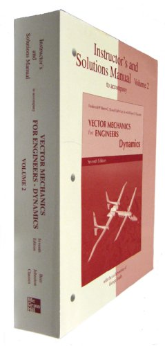 9780072962642: Instructor's and Solutions Manual to Accompany Vector Mechanics for Engineers and Dynamics (Volume 2)