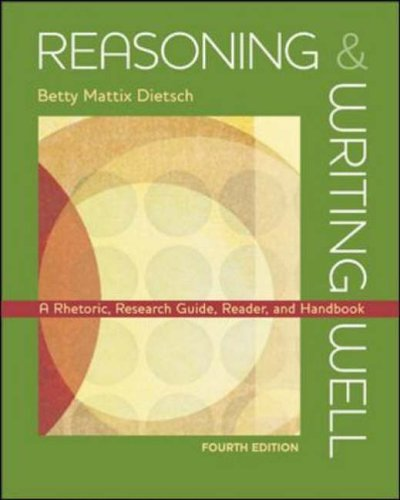 9780072962970: Reasoning & Writing Well A Rhetoric, Research Guide, Reader,and Handbook