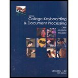 9780072963403: Gregg College Keyboarding: Lessons 1-20