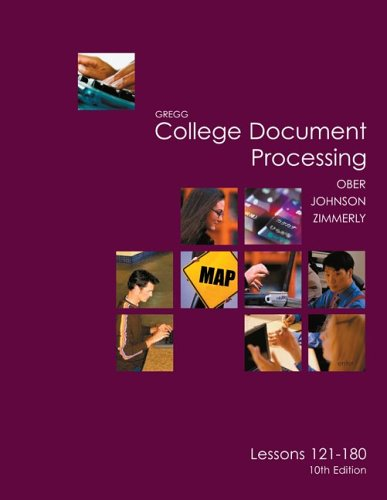 9780072963434: Gregg College Keyboarding & Document Processing (GDP), Lessons 121-180 text (Gregg College Document Processing)