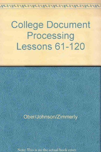 9780072963489: College Document Processing Lessons 61-120
