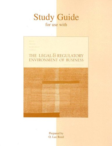 9780072964059: Study Guide to accompany The Legal and Regulatory Environment of Business