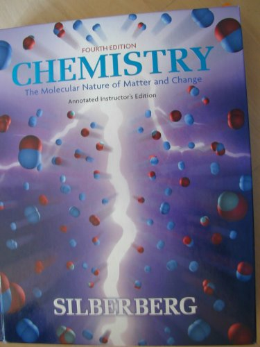 9780072964394: Chemistry Annotated Instructor's Edition (The Molecular Nature of Matter and Change)