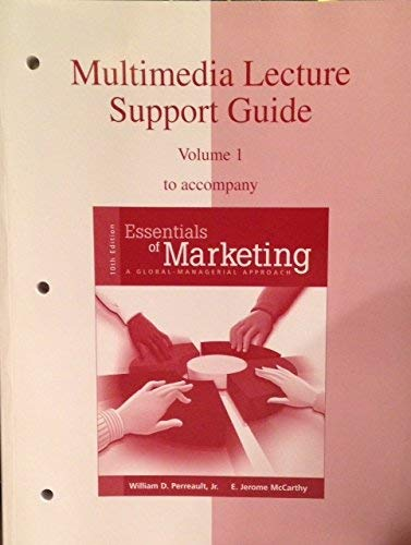 9780072964592: MULTIMEDIA LECTURE SUPPORT GUIDE Volume 1 to accompany Essentials of Marketing: a Global approach 10e