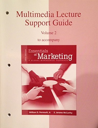 9780072964714: MULTIMEDIA LECTURE SUPPORT GUIDE Volume 2 to accompany Essentials of Marketing: a Global approach 10e